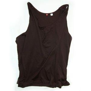 Boho Uniqlo draped, flowy tank top